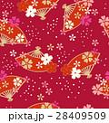 扇 桜 和柄のイラスト 28409509
