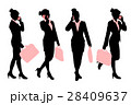 silhouette of business woman 28409637