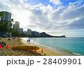 ハワイ ワイキキビーチ 浜辺 28409901