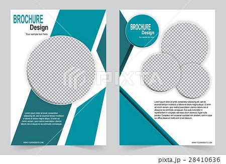 green brochure template flyer designのイラスト素材 28410636 pixta