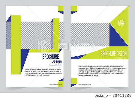 Yellow and Blue Brochure template flyer designのイラスト素材 [28411235] - PIXTA