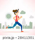 woman running jogging city run marathon sport 28411301