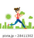 woman running jogging city run marathon sport 28411302
