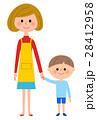 子供 母親 手をつなぐのイラスト 28412958