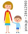 子供 母親 手をつなぐのイラスト 28412960