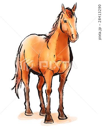 筆イラスト 馬のイラスト素材 28413290 Pixta