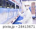 工場 女性 働くの写真 28413671