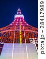 東京タワー イルミネーション ライトアップの写真 28417989