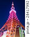 東京タワー イルミネーション ライトアップの写真 28417992