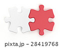 紅白のパズルピース 28419768