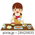 朝食 食べる 食事のイラスト 28420635