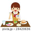 朝食 食べる 食事のイラスト 28420636