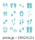 青 セット 組み合わせのイラスト 28424121