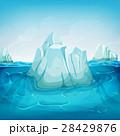 氷山 景色 風景のイラスト 28429876