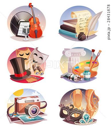Arts Round Compositions Set 28431678