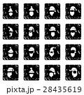 サンタ サンタクロース アイコンのイラスト 28435619