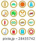 Water Sport Icons set, cartoon style 28435742