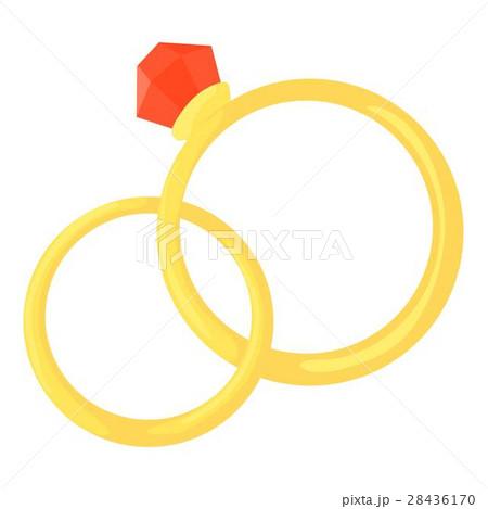 wedding rings icon cartoon styleのイラスト素材 28436170 pixta
