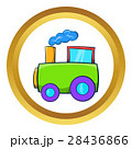 Green toy train vector icon 28436866
