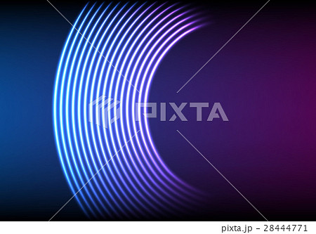 Vinyl grooves as neon lines background. With 80s 28444771