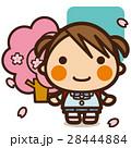 小学生 女の子 入学のイラスト 28444884
