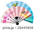 扇子 扇 蝶のイラスト 28445608