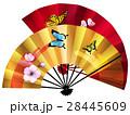 扇子 扇 蝶のイラスト 28445609