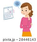 女性の悩み カレンダー 28446143