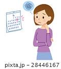 女性の悩み カレンダー 28446167