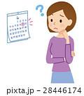 女性の悩み カレンダー 28446174