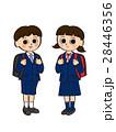 ランドセル 小学生 女の子のイラスト 28446356