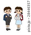 ランドセル 小学生 女の子のイラスト 28446357