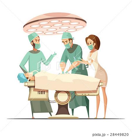 Surgery Illustration in Cartoon Retro Style  28449820
