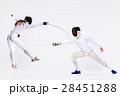フェンシング 剣術 剣士の写真 28451288