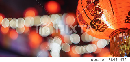 Chinese new year lanterns in china town. 28454435