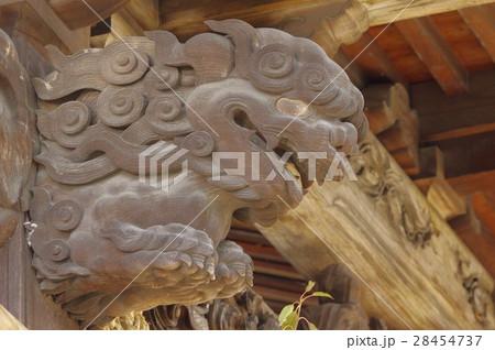 信州 上伊那 松島神社の彫刻 本殿は1781年の建造 牛窪流の宮大工 有賀吉左衛門の作品 28454737