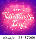 Valentines Day card or banner with shiny bokeh 28457069