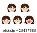 花粉症の女性の顔 イラストセット 28457688
