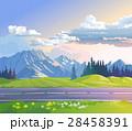 景色 風景 山のイラスト 28458391