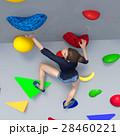 ボルダリングイメージ perming3DCGイラスト素材 28460221