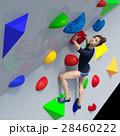 ボルダリングイメージ perming3DCGイラスト素材 28460222