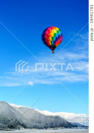 白馬村風景と気球8 28462783