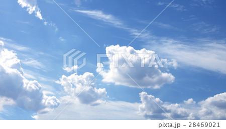 Blue sky white clouds fresh air nature 28469021