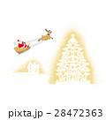 クリスマス サンタクロース トナカイのイラスト 28472363