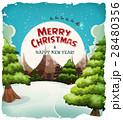 Merry Christmas Landscape Postcard 28480356