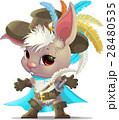 Cute rabbit cartoon 28480535