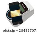 電子決済 スマートフォン クレジットカードのイラスト 28482707