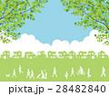 新緑 住宅街 住宅地のイラスト 28482840