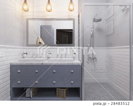 3d illustration of a interior design bathroom のイラスト素材 [28483512] - PIXTA