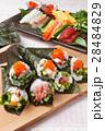 手巻き寿司 海苔巻き 寿司の写真 28484829